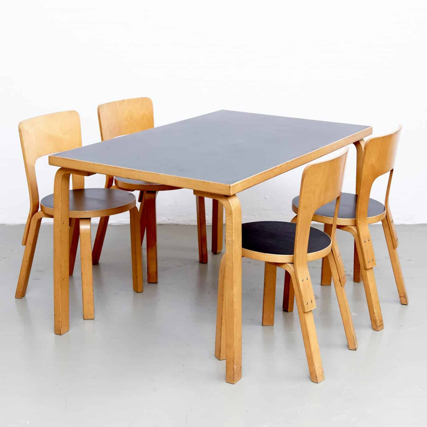 Alvar Aalto's 1970S DINING SET, offered by DADA Studios