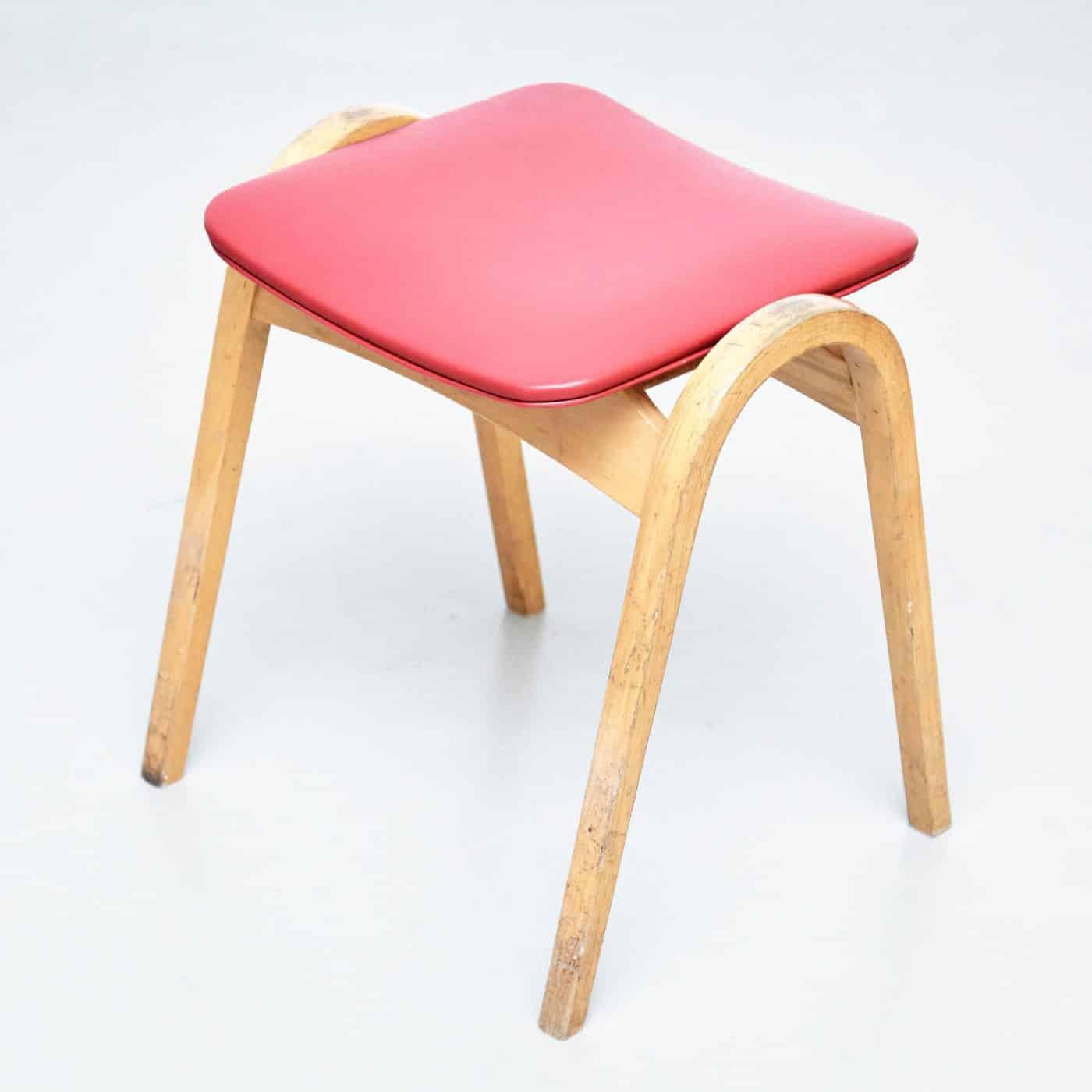 ISAMU KENMOCHI's 1961 wooden STOOL, offered by DADA Studios