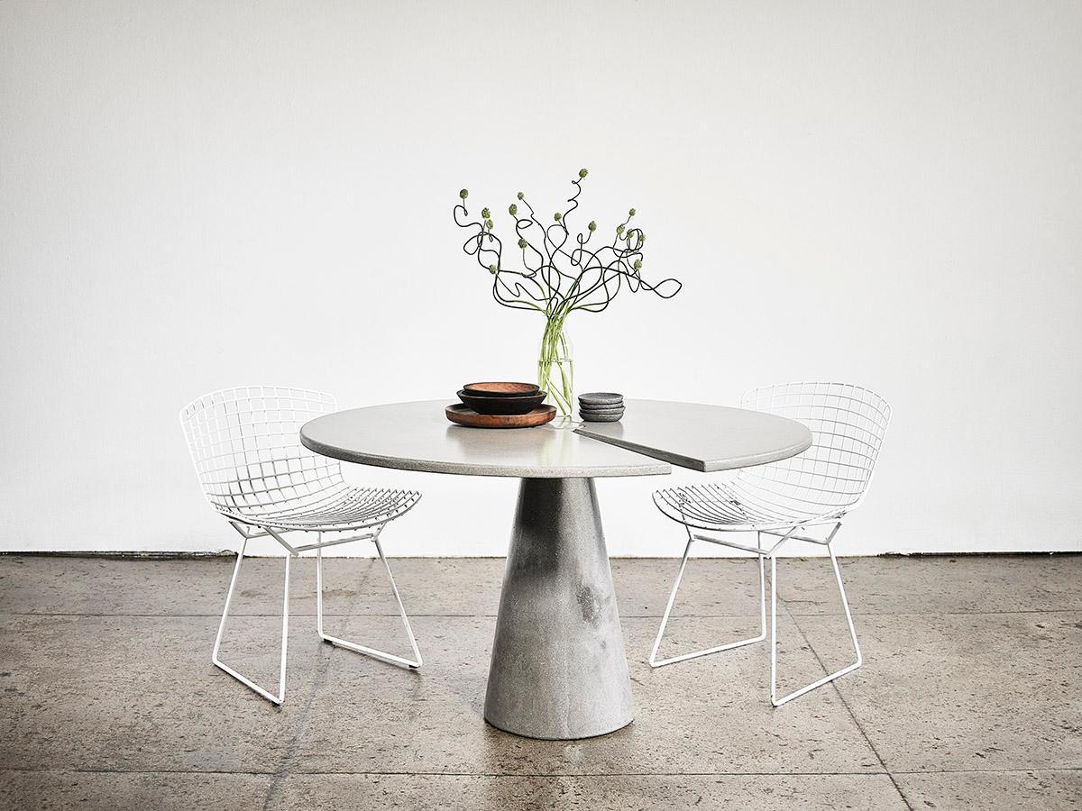 James De Wulf Split Locking polished-concrete dining table