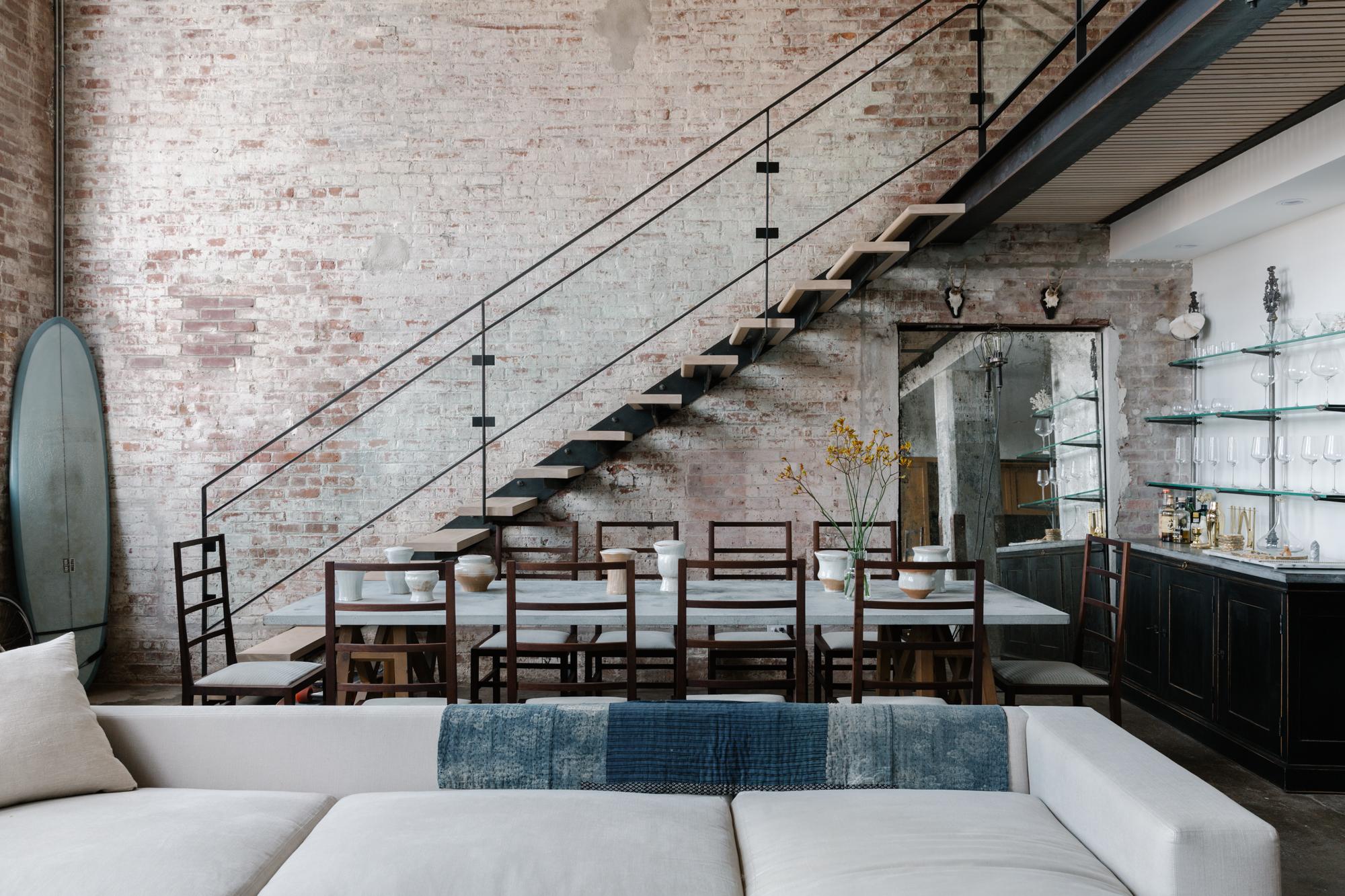 Jae Joo Brooklyn loft living and dining room