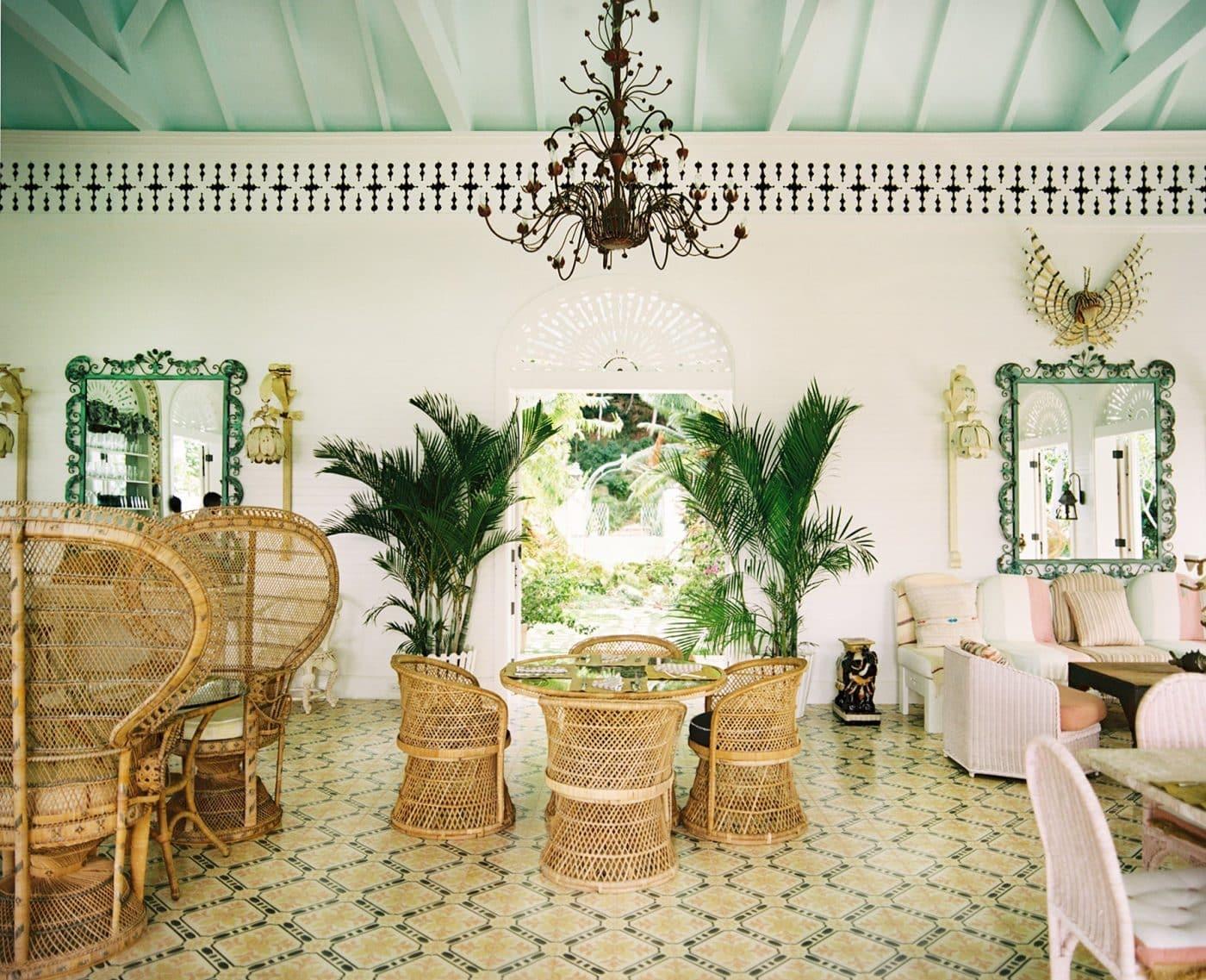 Playa Grande Beach Club lobby in the Dominican Republic, desiged by Celerie Kemble