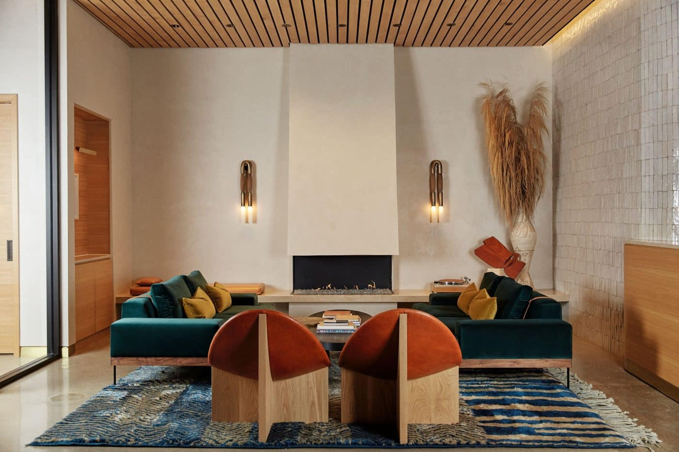 W Residences lobby in Dallas, designed by Swoon, the Studio