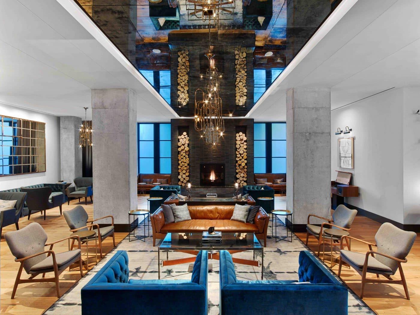 Kimpton Van Dandt Hotel lobby in Austin designed by Mark Zeff