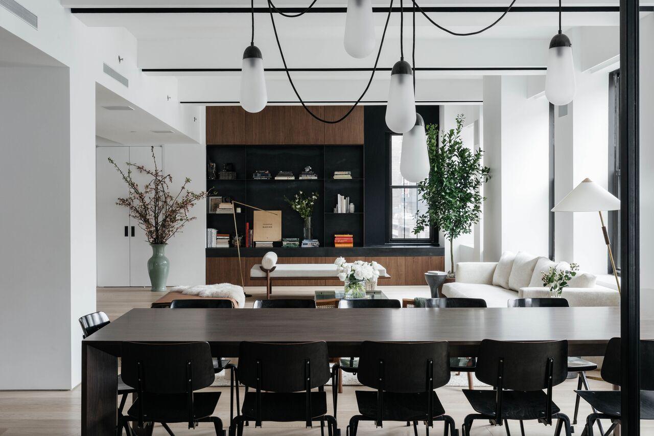 Jae Joo Flatiron loft dining room