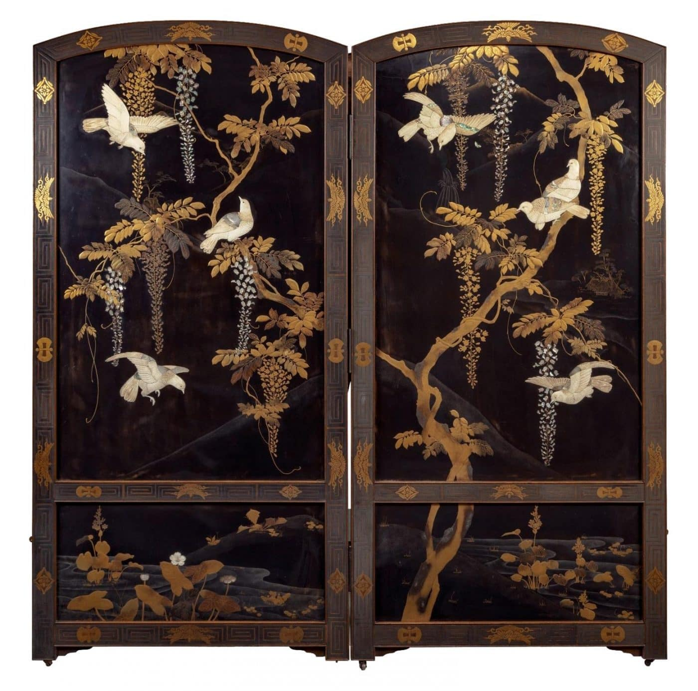 Japanese lacquer panel