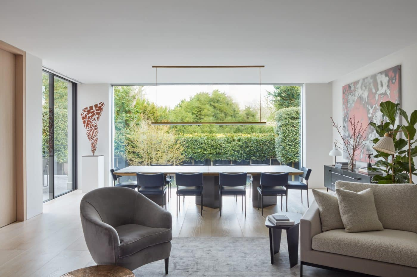 Hampstead, London dining area designed by Greenhill