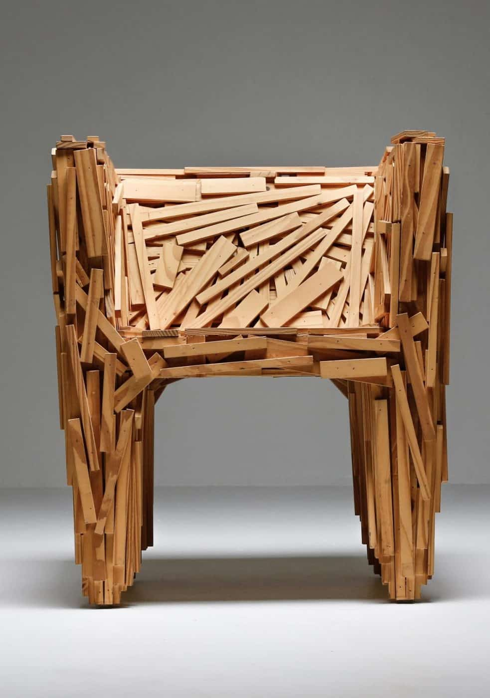 Campana Brothers Favela Chair made of strips of natural wood