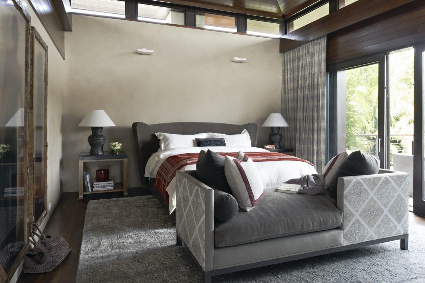 Pacific Palisades bedroom, interior designed by Coulter