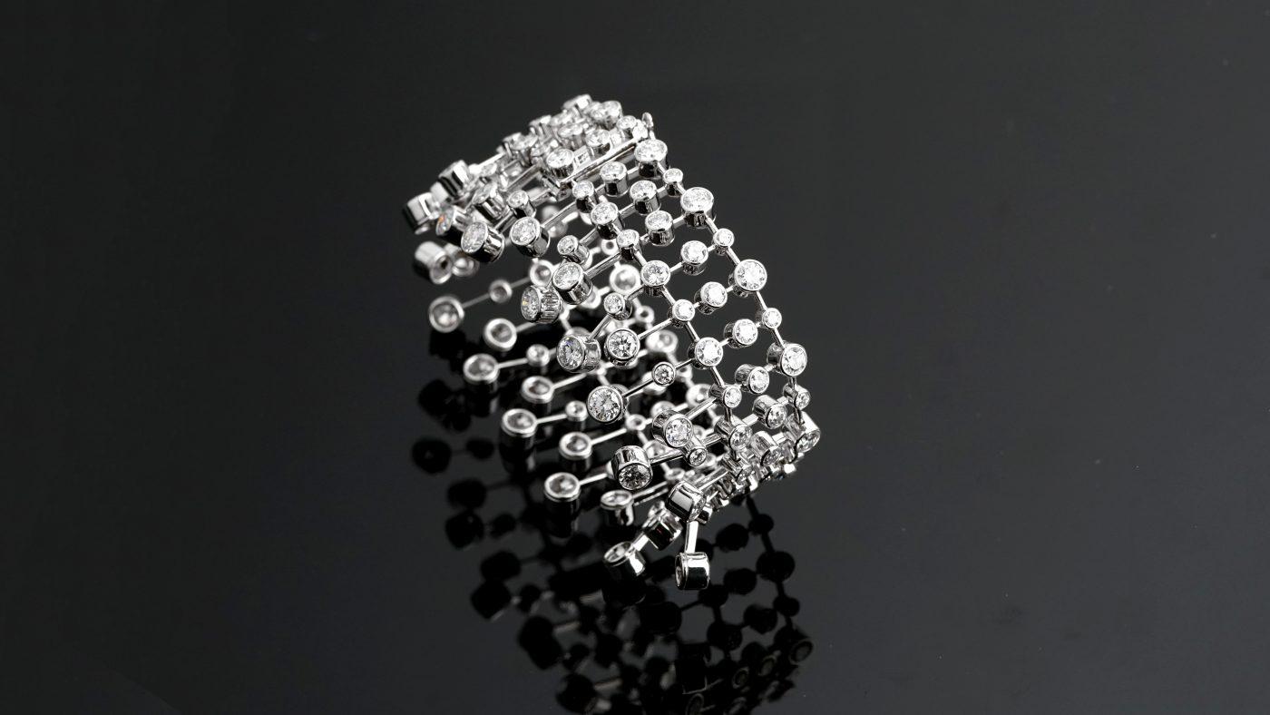 Cartier Diamond and Platinum Bracelet