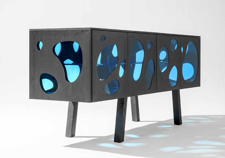 Campana Brothers Aquario Sideboard made of glass and wood