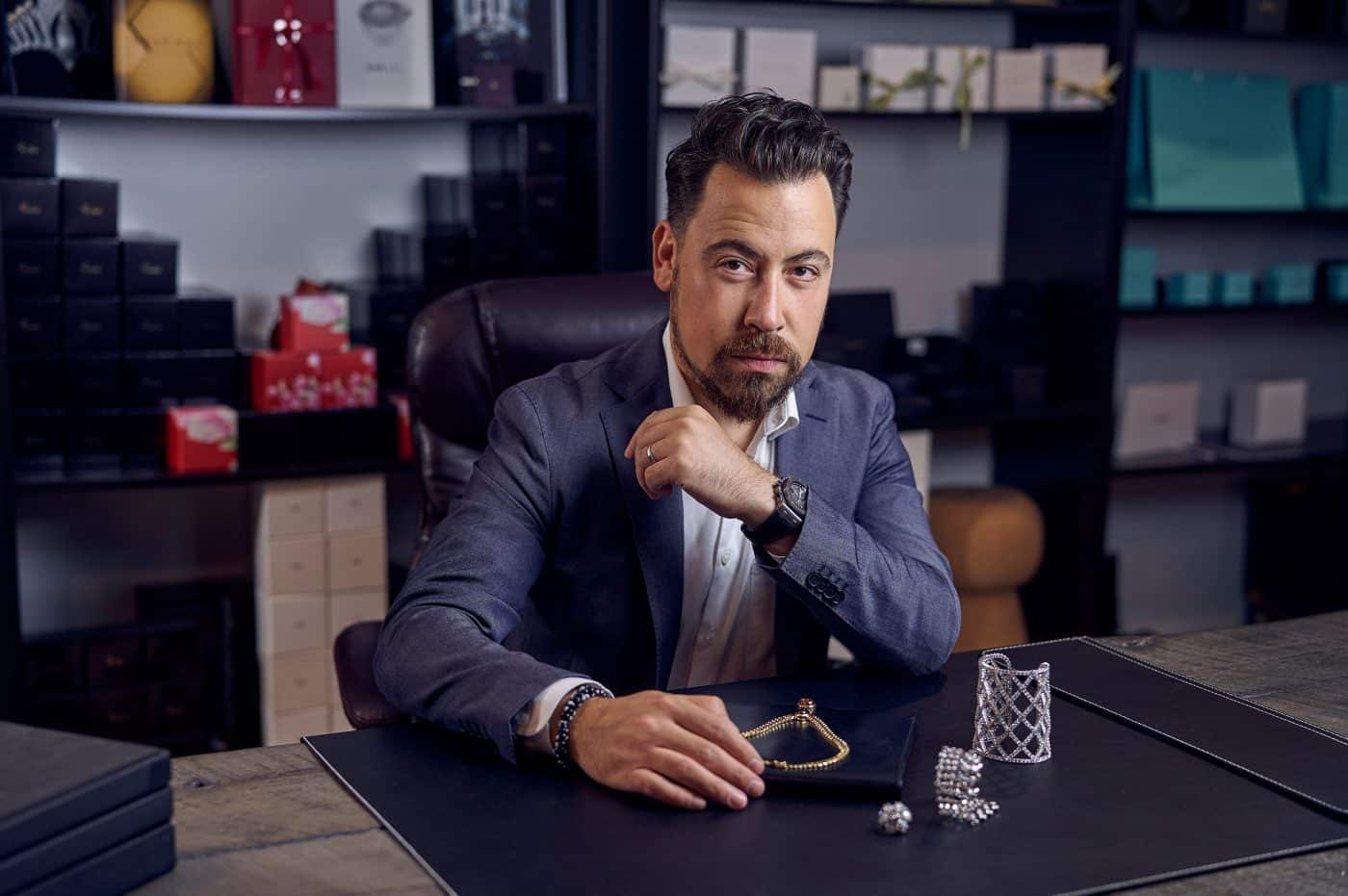 Portrait of Jonathan Yedwabnik, founder and CEO of Opulent Jewelers