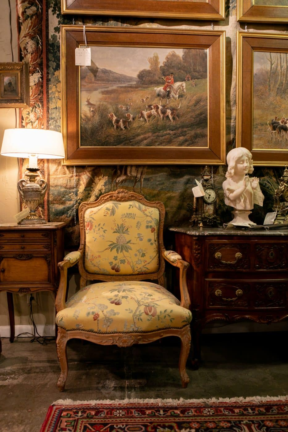 A ca. 1920 Louis XV–style fauteuil