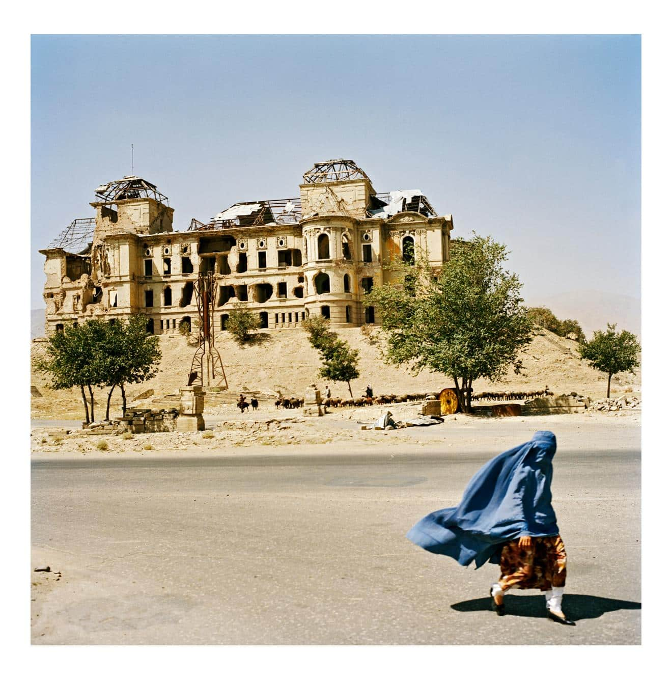 At the Darulaman Palace, Kabul, Afghanistan, August 2003, 2011, by Jonathan Becker