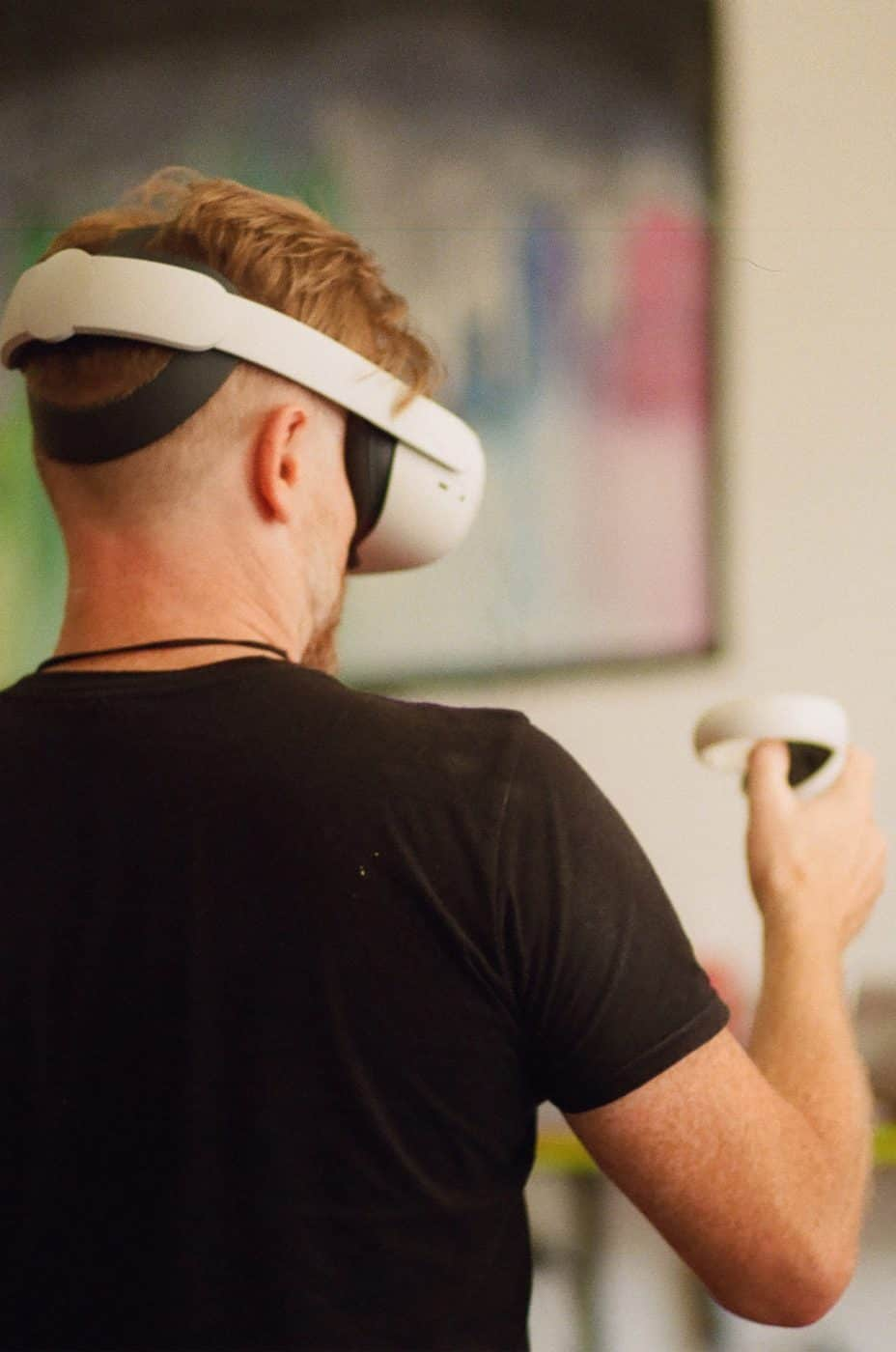 virtual reality artist Lee Mason, aka Metageist
