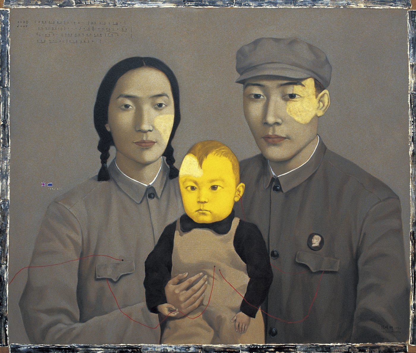 Bloodline — Big Family No. 2, 1993, by Zhang Xiaogang