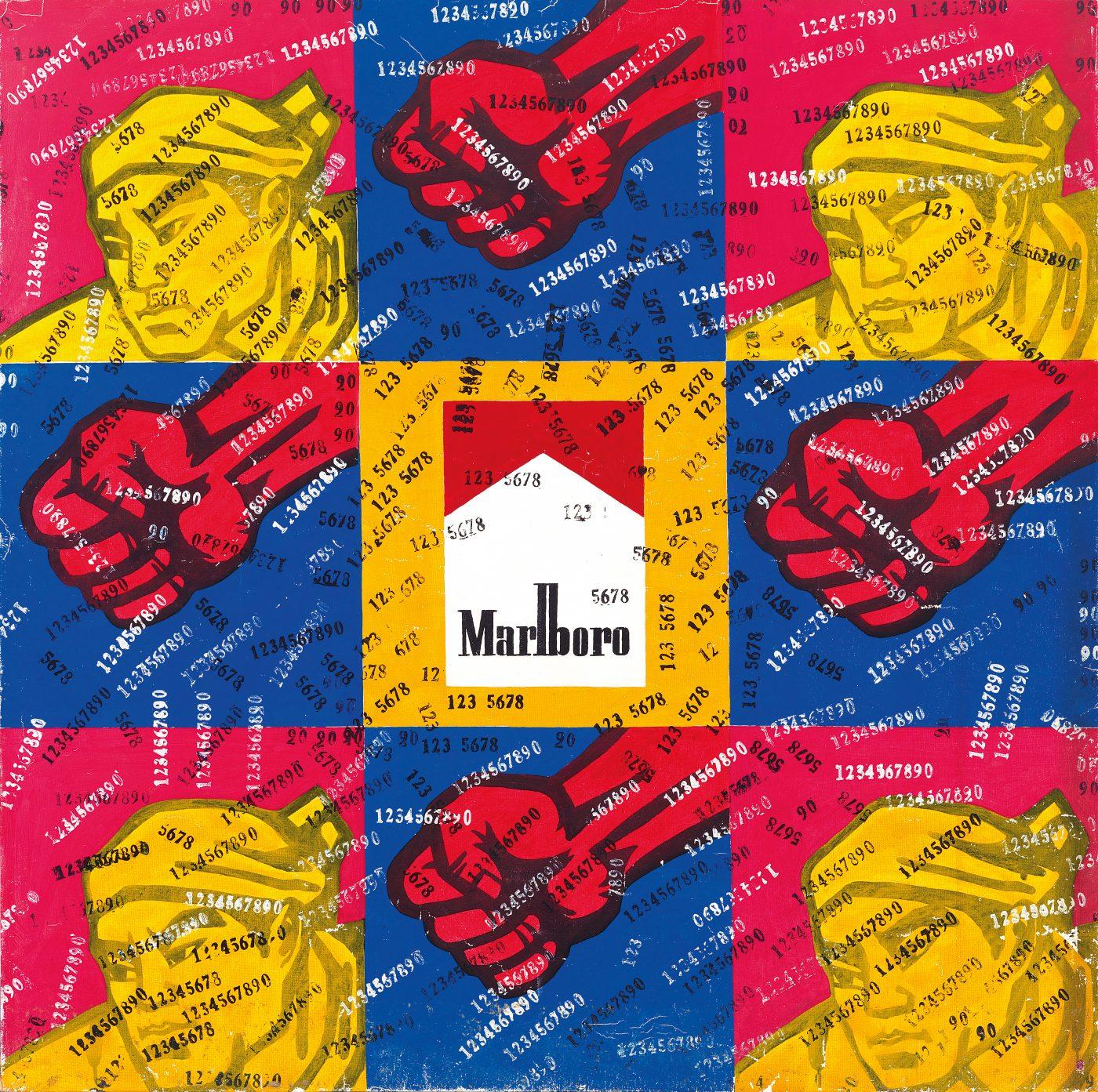 Marlboro, 1990, by Wang Guangyi