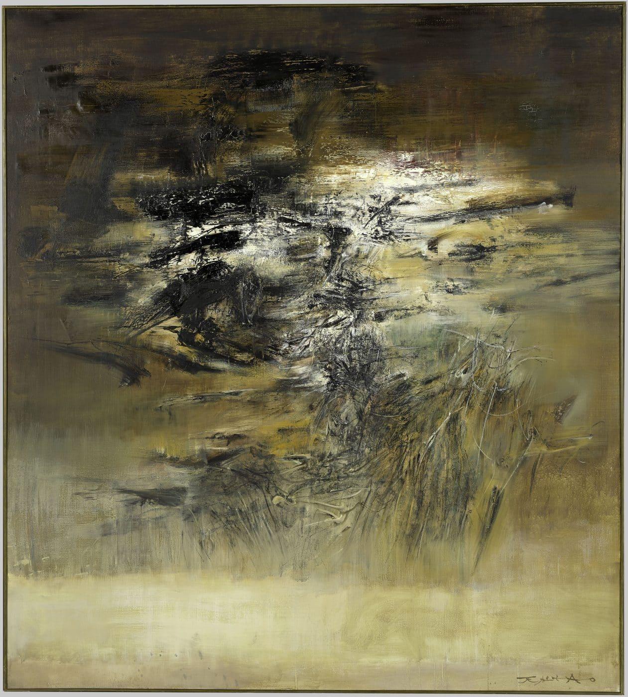 15.12.61, 1961, by Zao Wou-Ki