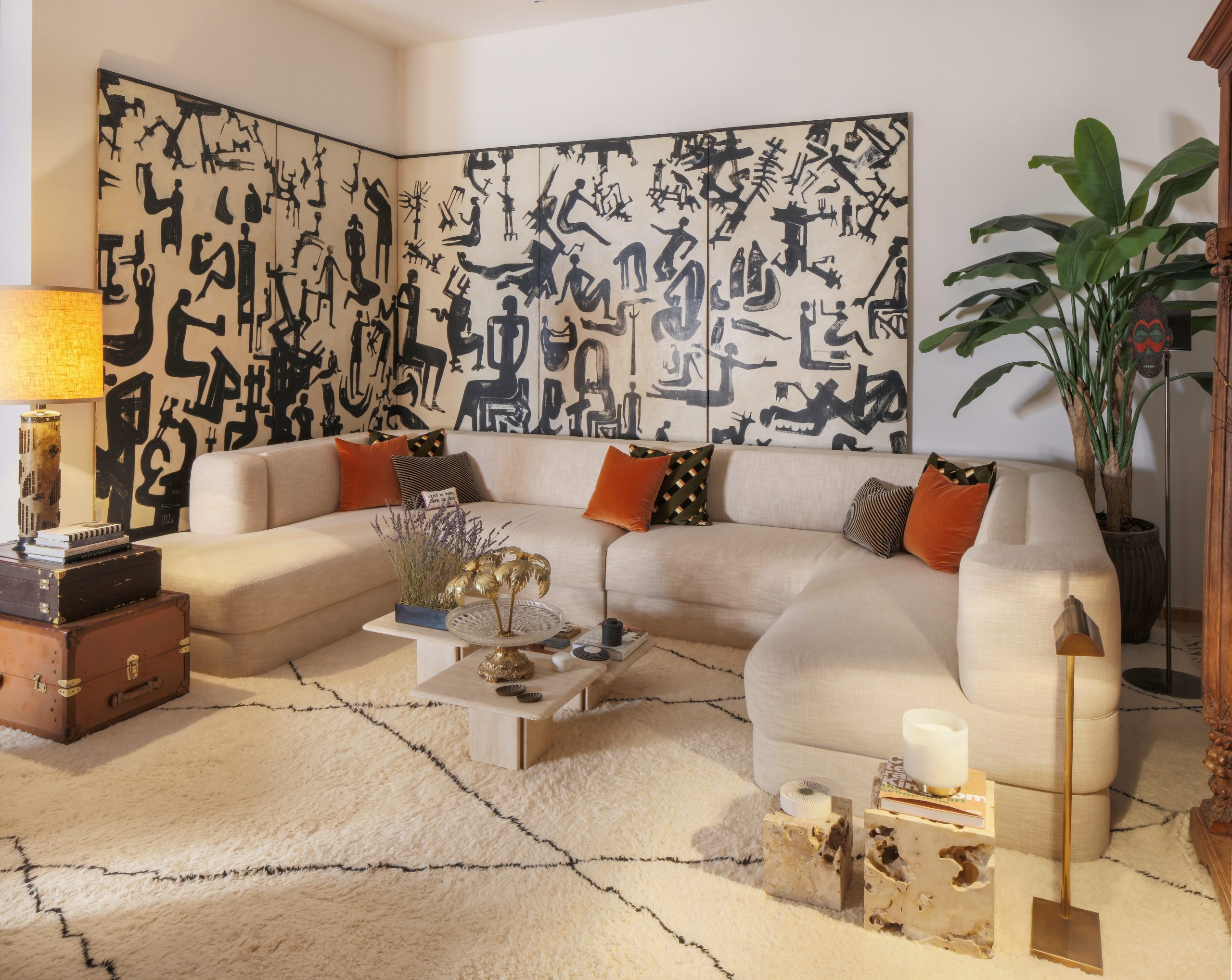 Living room designed by Anoud Khalid