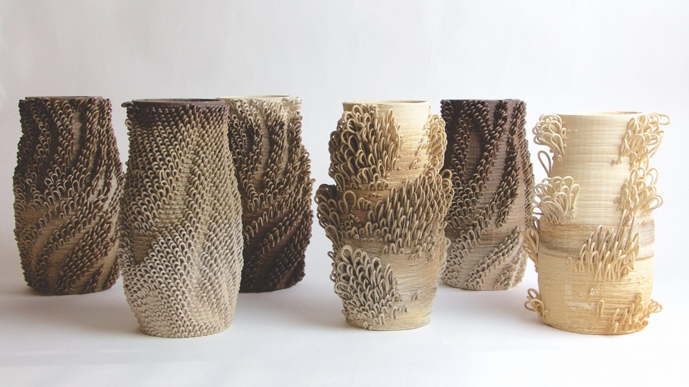 Bad Ombres ceramic vessels made by Rael and San Fratello