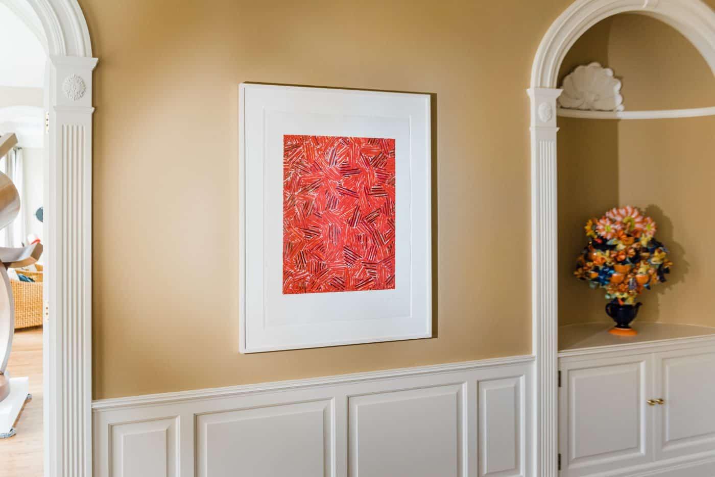 Jordan Schnitzer's home in Portland, Oregon: Cicada, 1981, by Jasper Johns in Schnitzer's dining room.