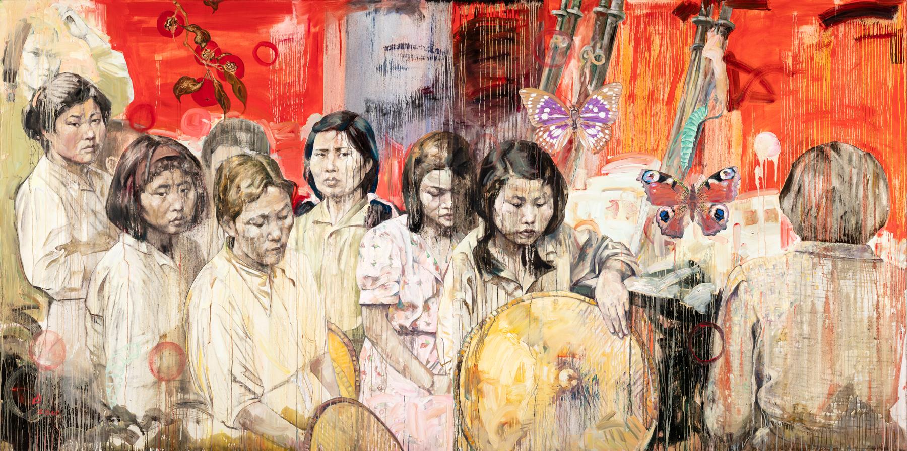 Strange Fruit: Comfort Women, 2001, by Hung Liu
