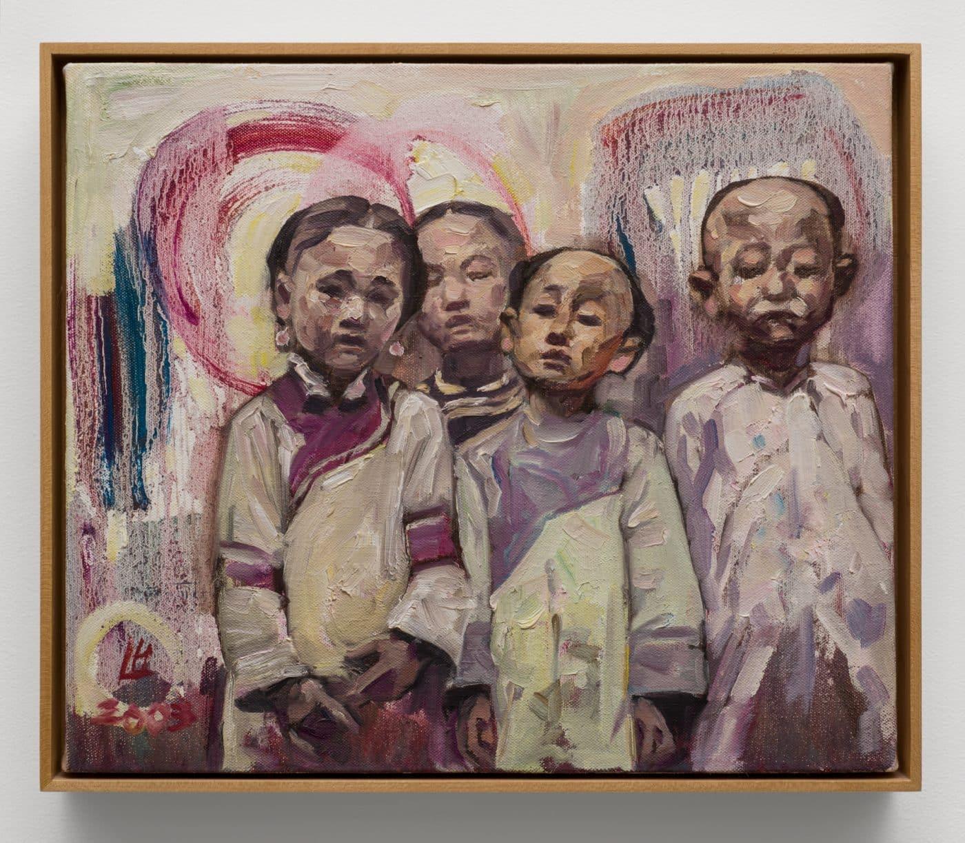 Mission Girls 20, 2003, by Hung Liu