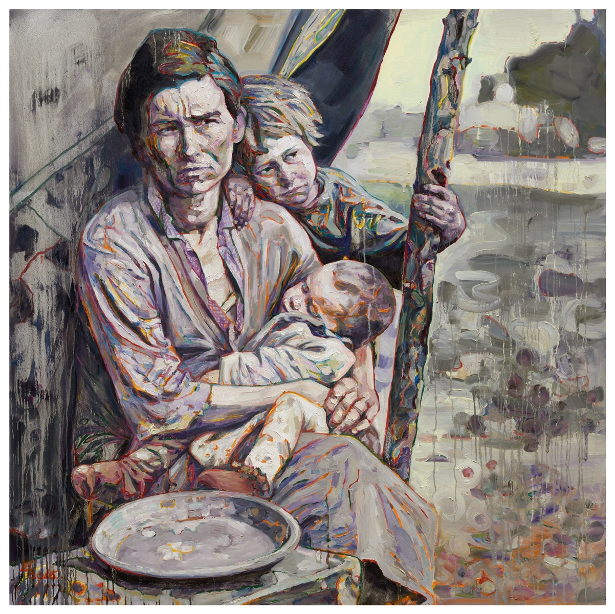 Migrant Mother: Mealtime, 2016, by Hung Liu