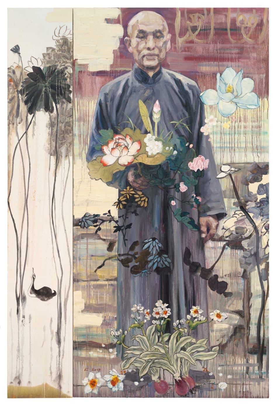 The Botanist, 2013, by Hung Liu