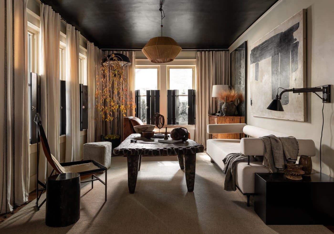 Living room space designed by Sean Anderson