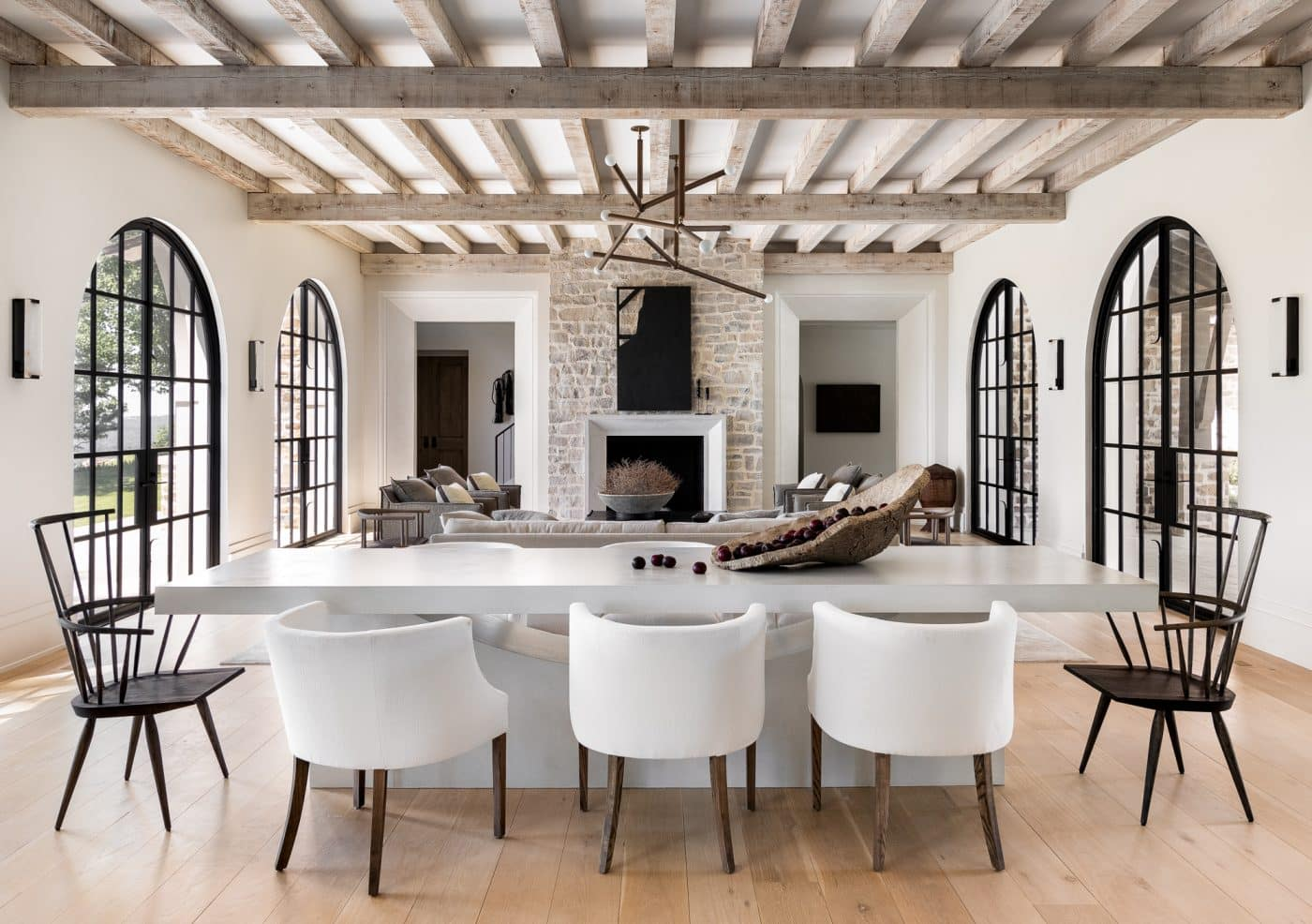 DIning area designed by Sean Anderson