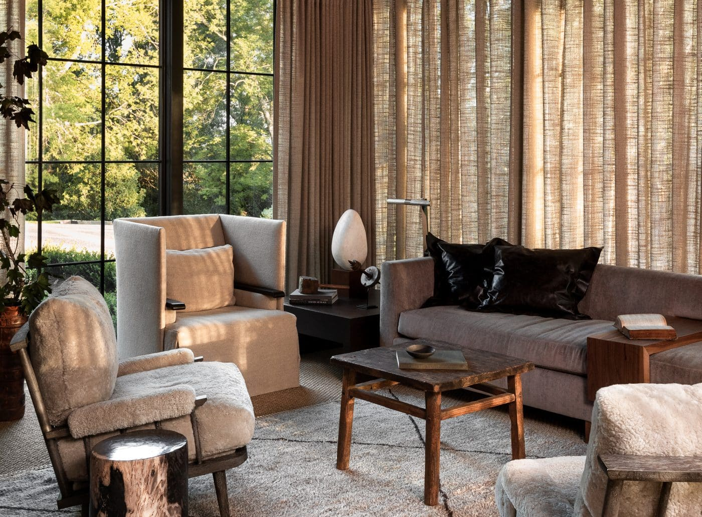 Living room designed by Sean Anderson
