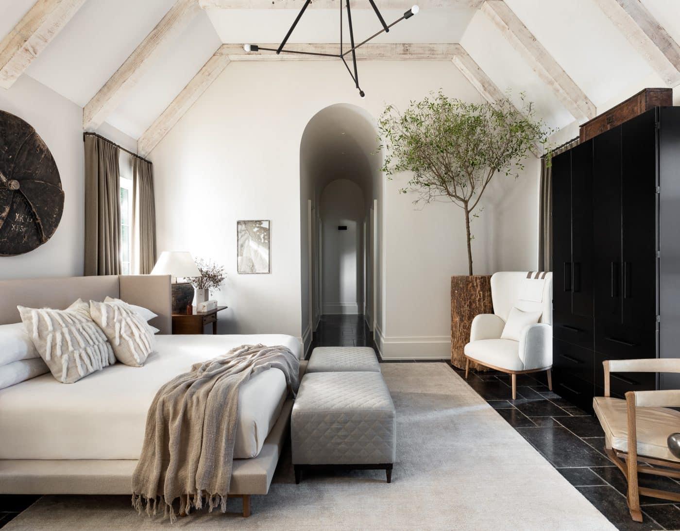 Bedroom designed by Sean Anderson