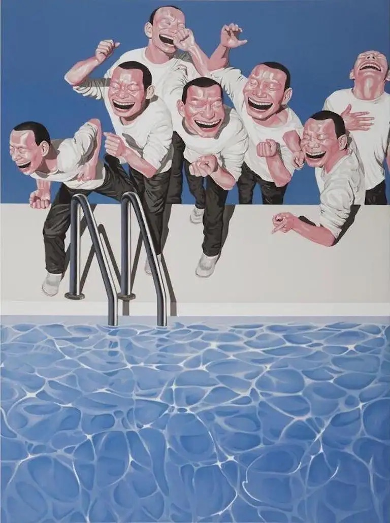 TAKE THE PLUNGE, 2009, by YUE MINJUN
