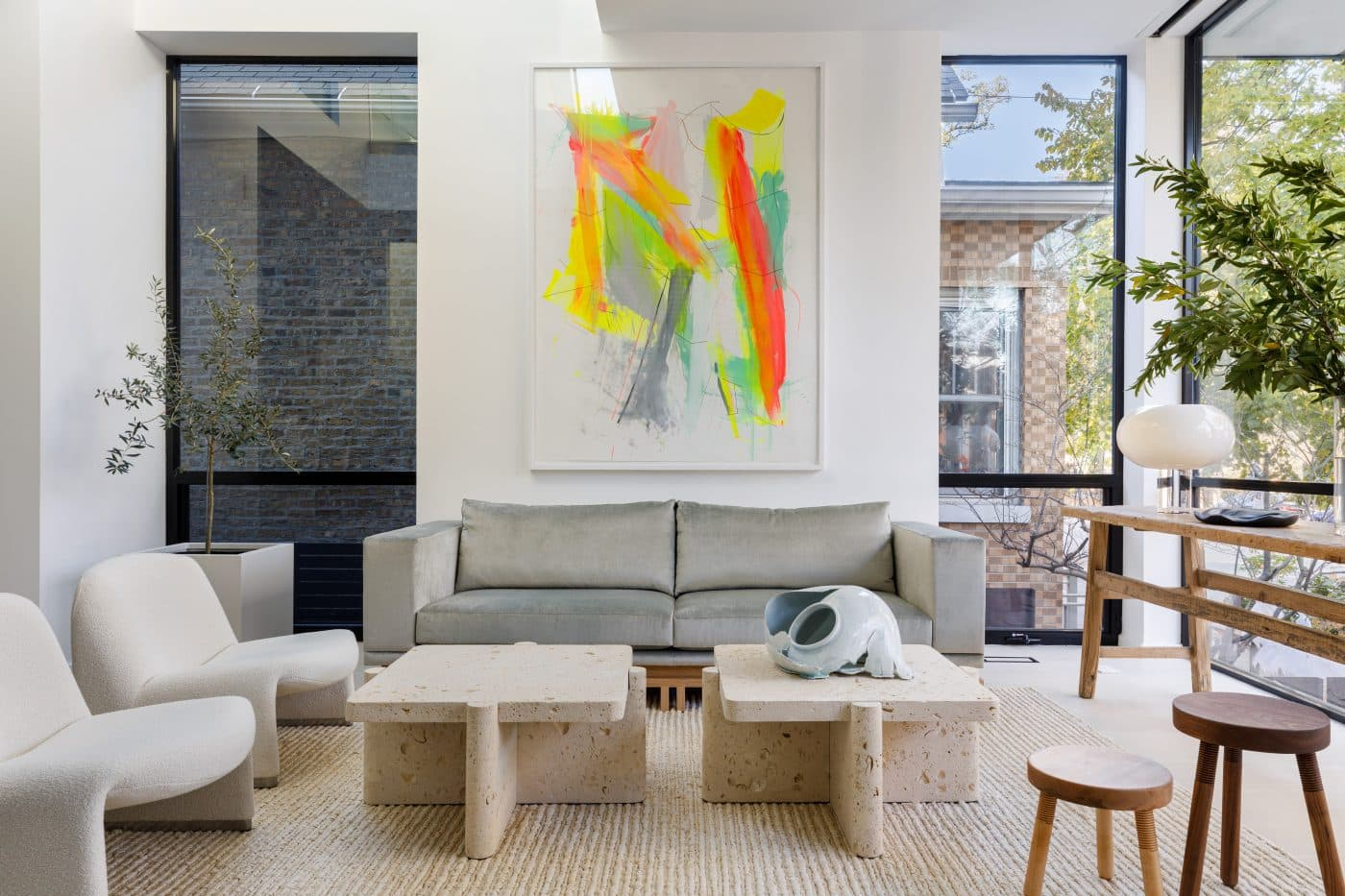 Living room of Chicago home designed by Gil Melott