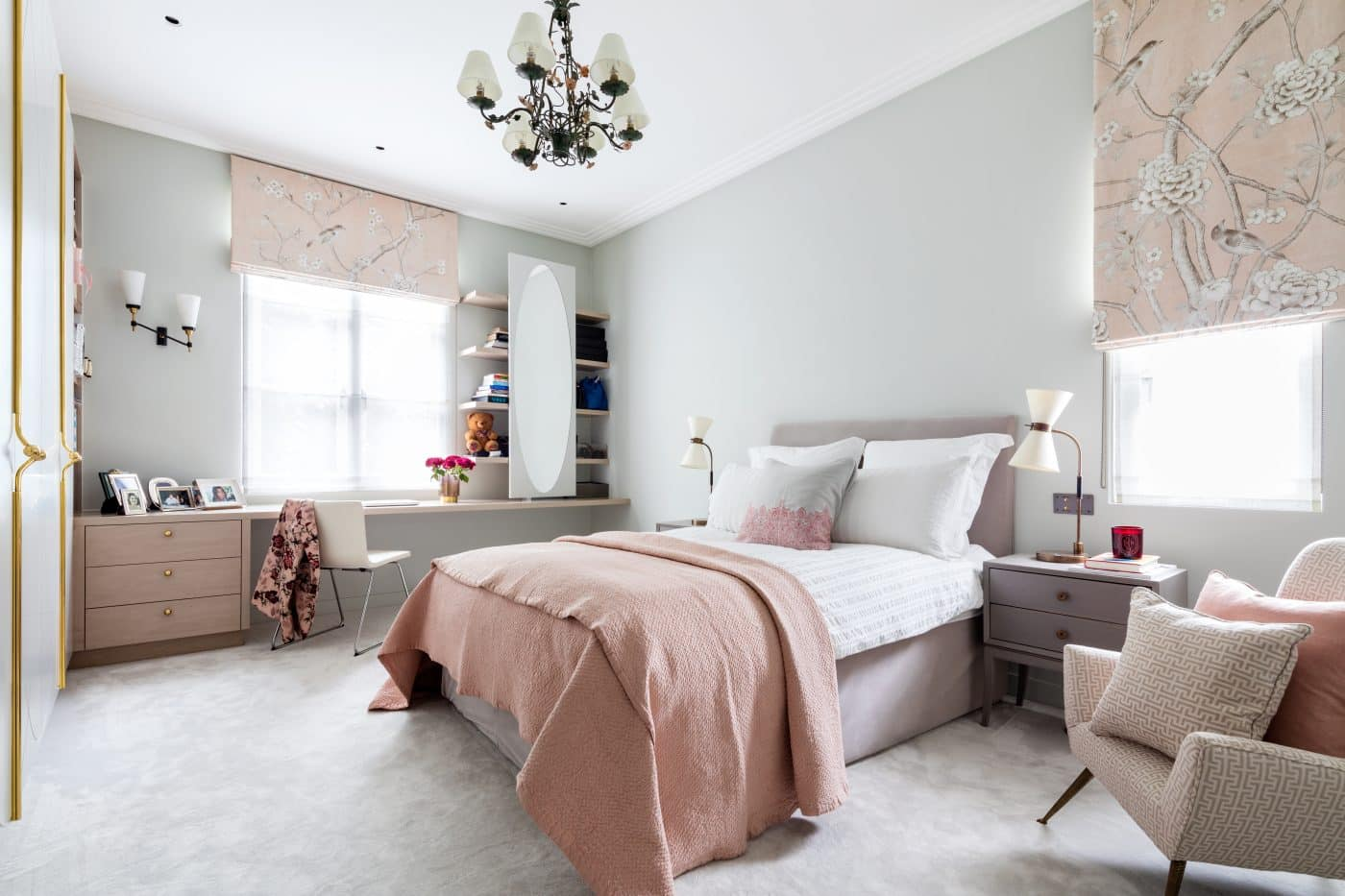 Daughter's bedroom of the London home