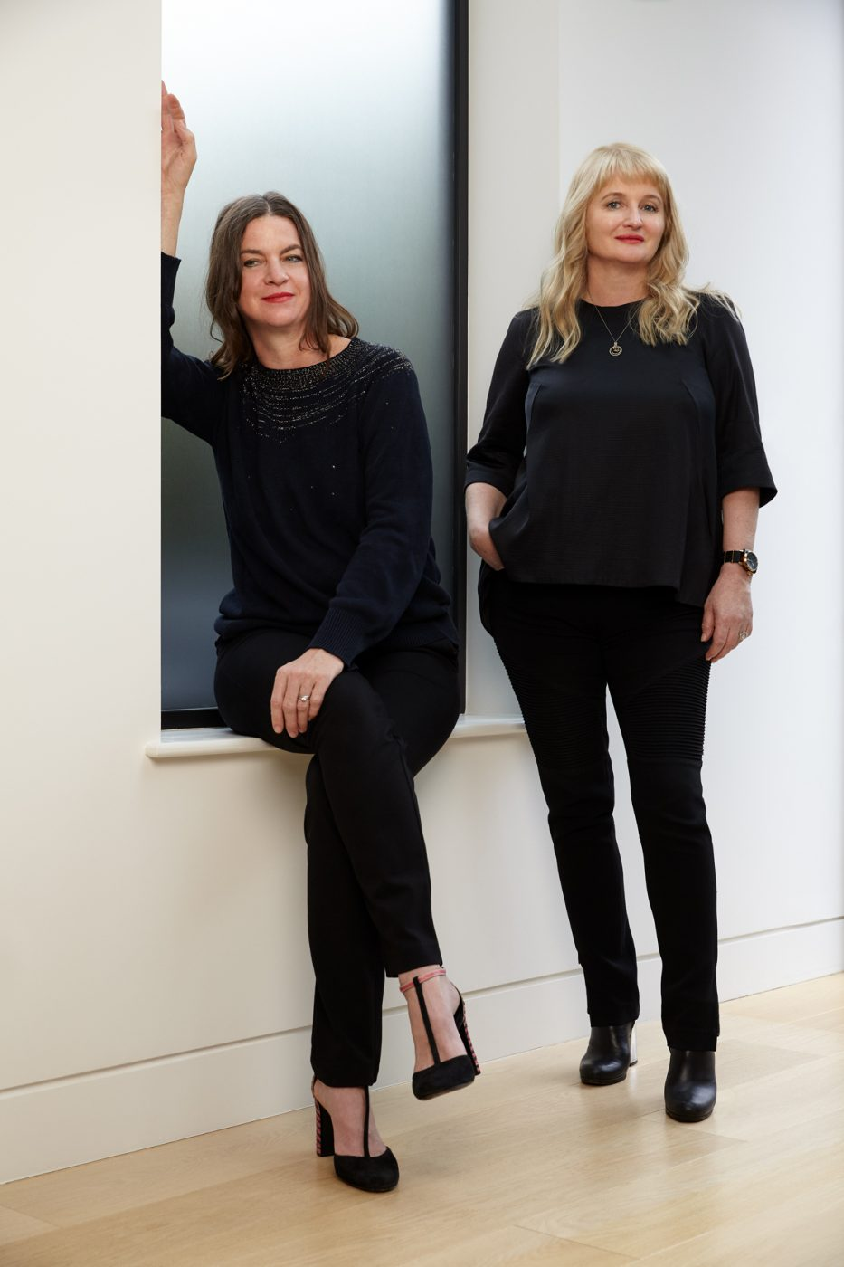 Portrait of interior designers Eleanora Cunietti and Audrey Carden