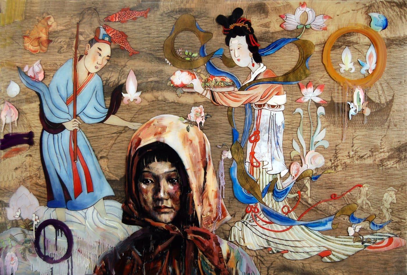 Baptism, 2011, by Hung Liu