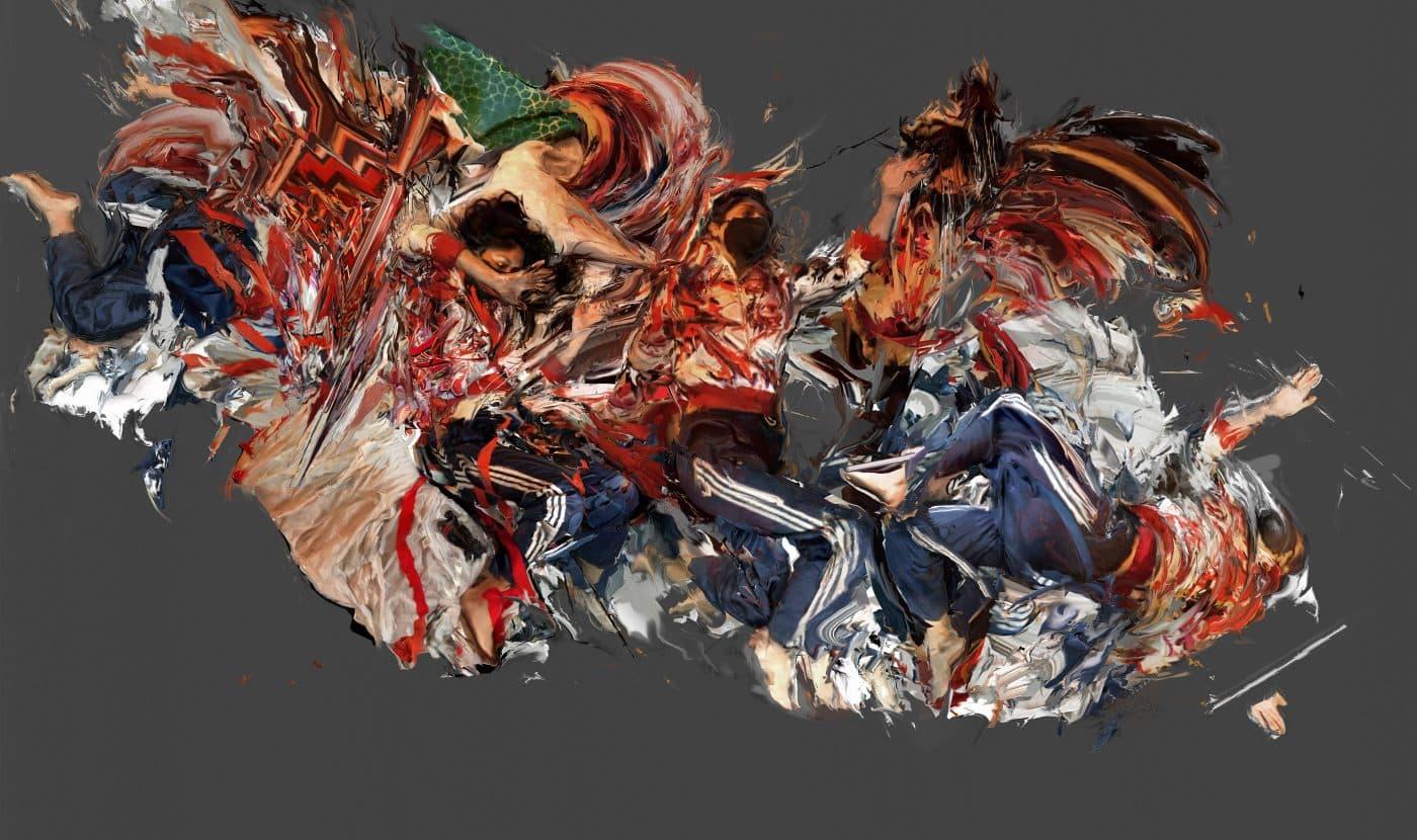 "Image of Lucas Aguirre's digital print, ""Rescue"""