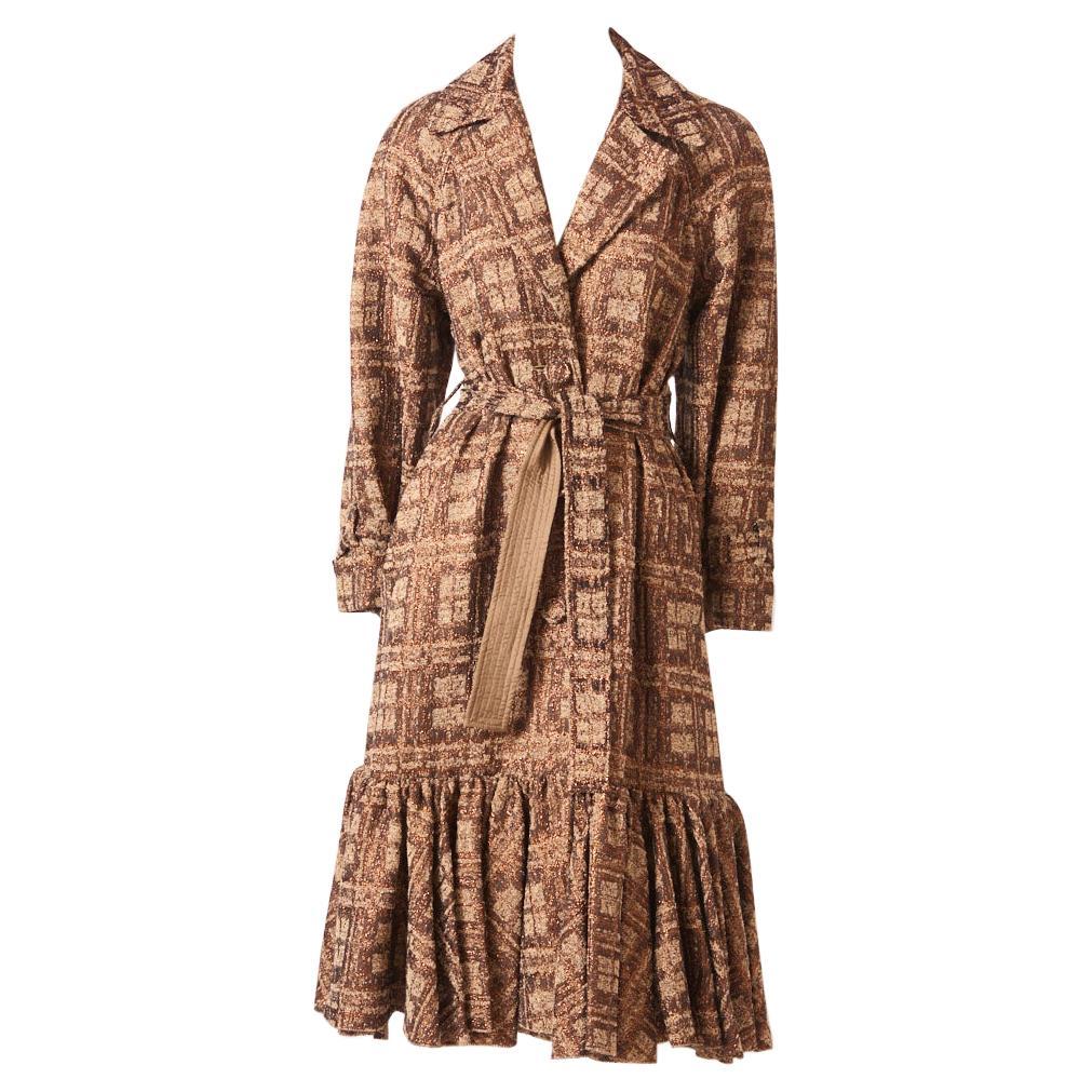 Isabel Toledo bronze and copper belted coat