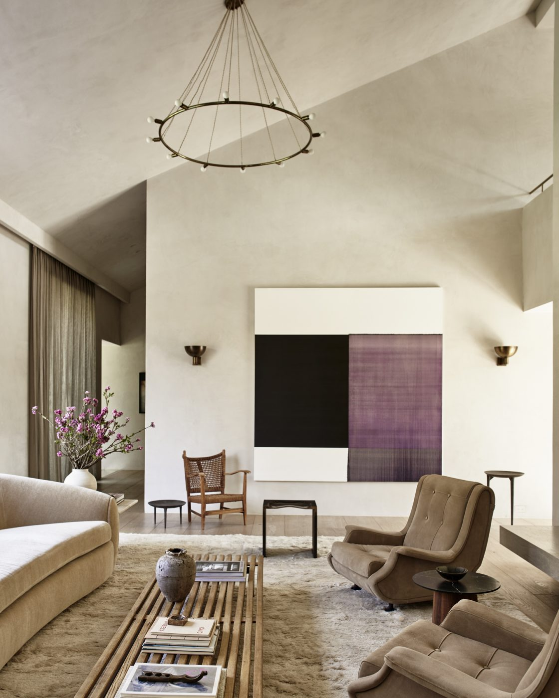 Living room in Malibu designed by Alexander