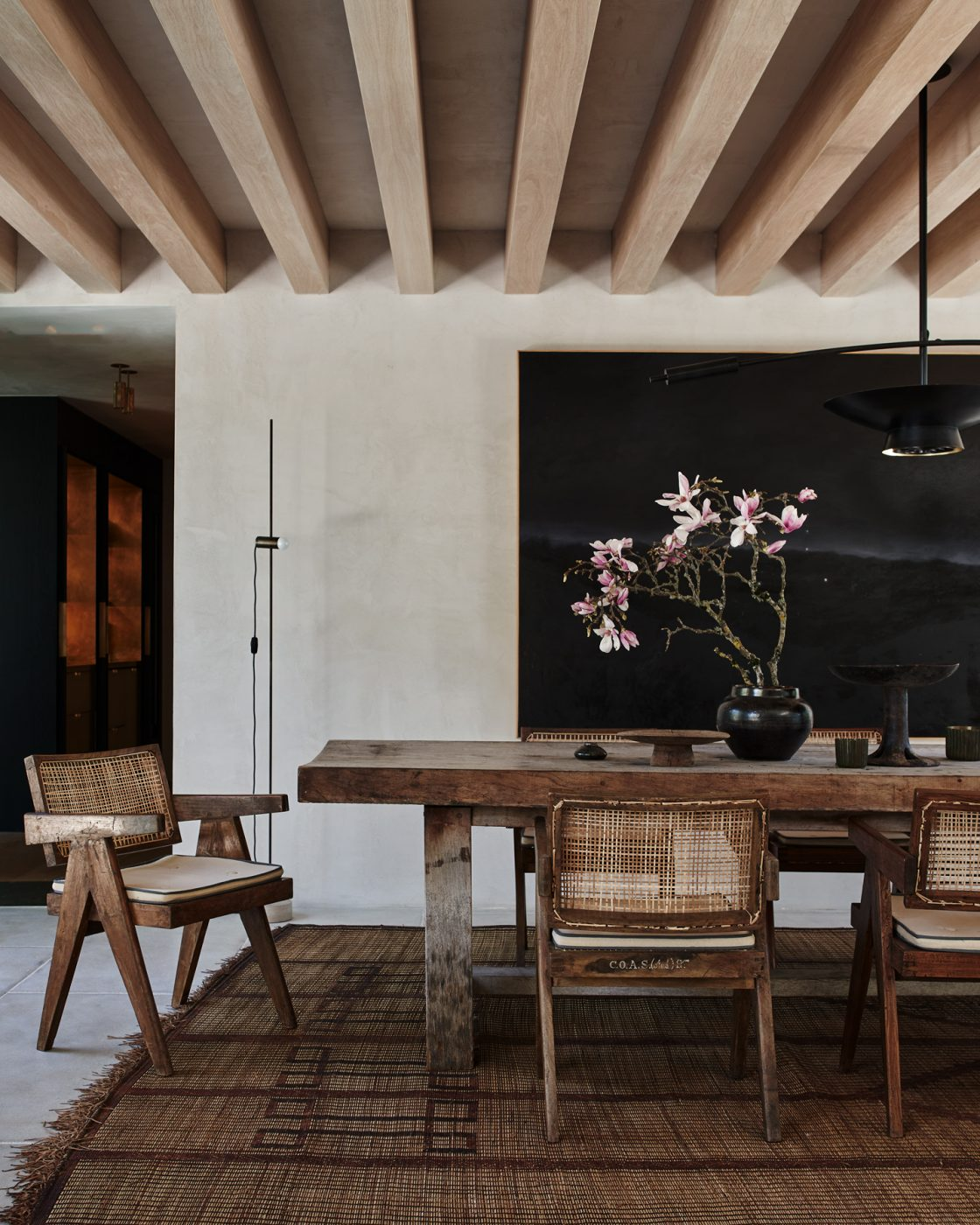 Dining room in Malibu designed by Alexander