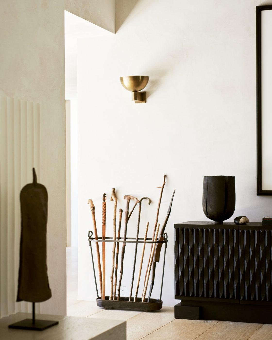 Corner of a Malibu home designed by Alexander