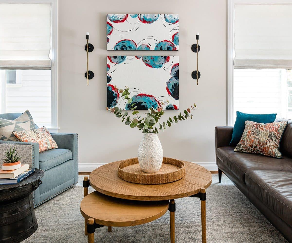 The Residency Bureau living room