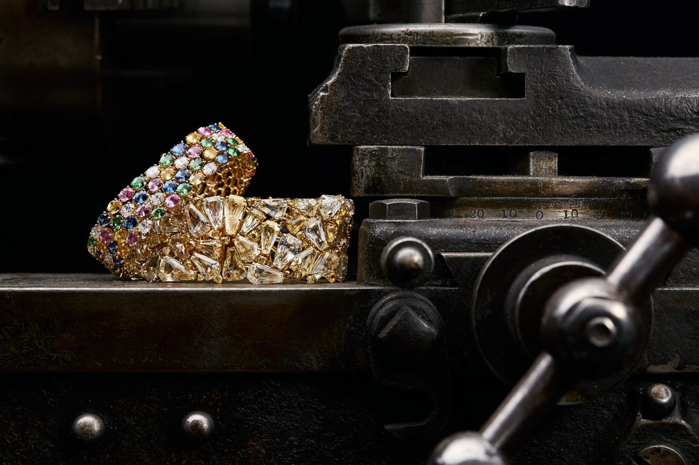 A pair of Oscar Heyman bracelets at the firm's tool-and-die shop