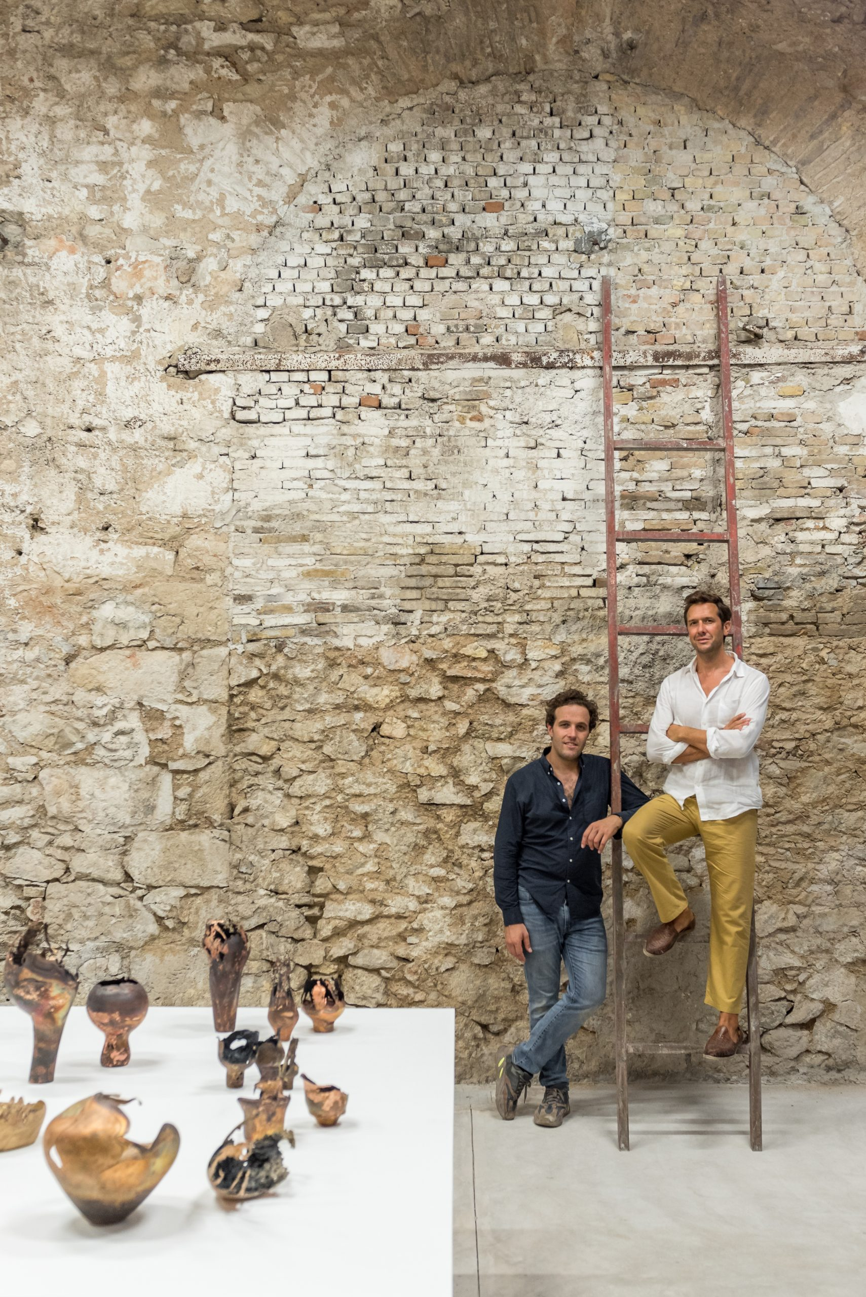 Portrait of Carwan Gallery owners Quentin Moyse and Nicolas Bellavance-Lecompte