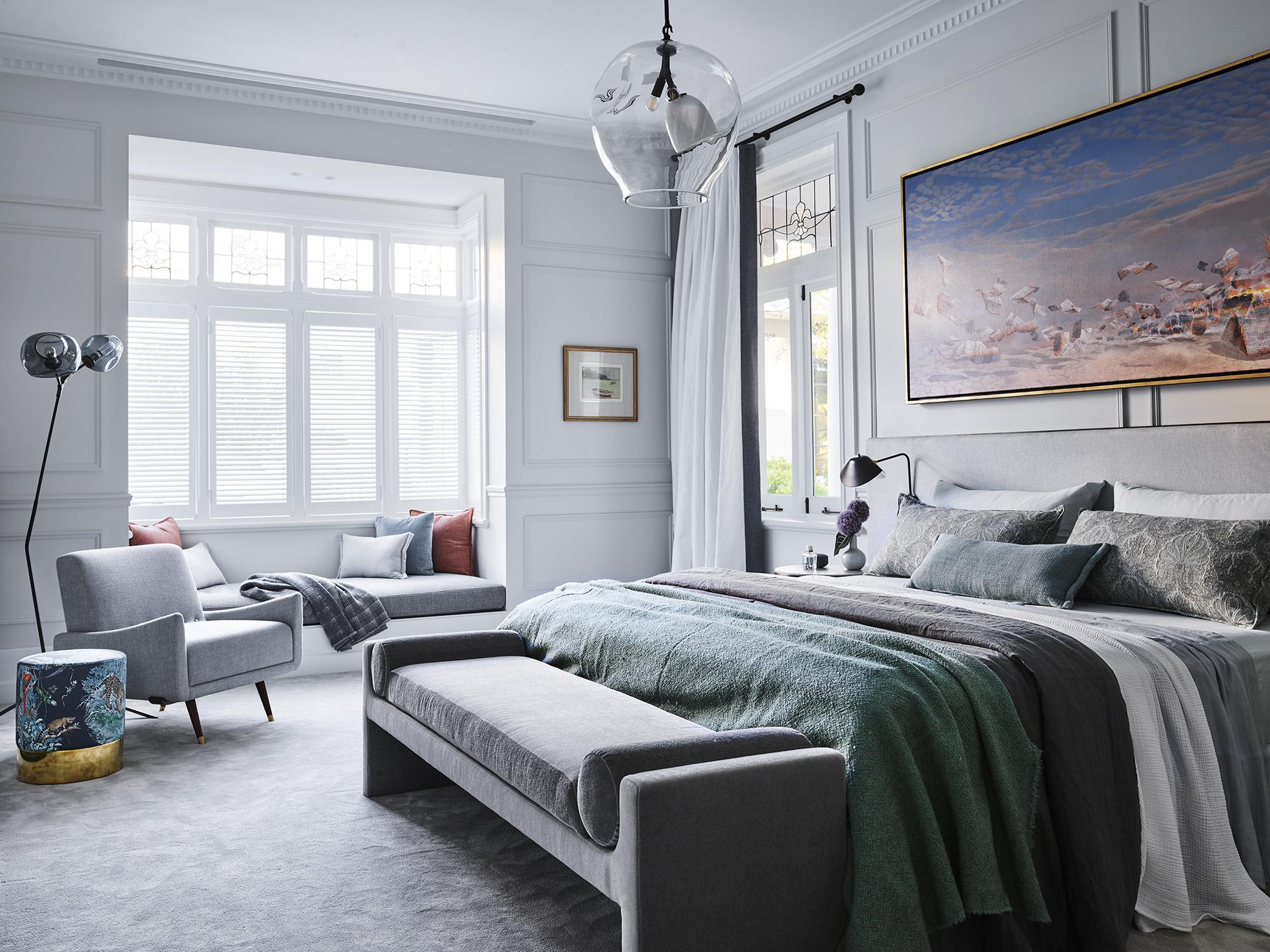 Bedroom designed by Alexandra Donohoe Church