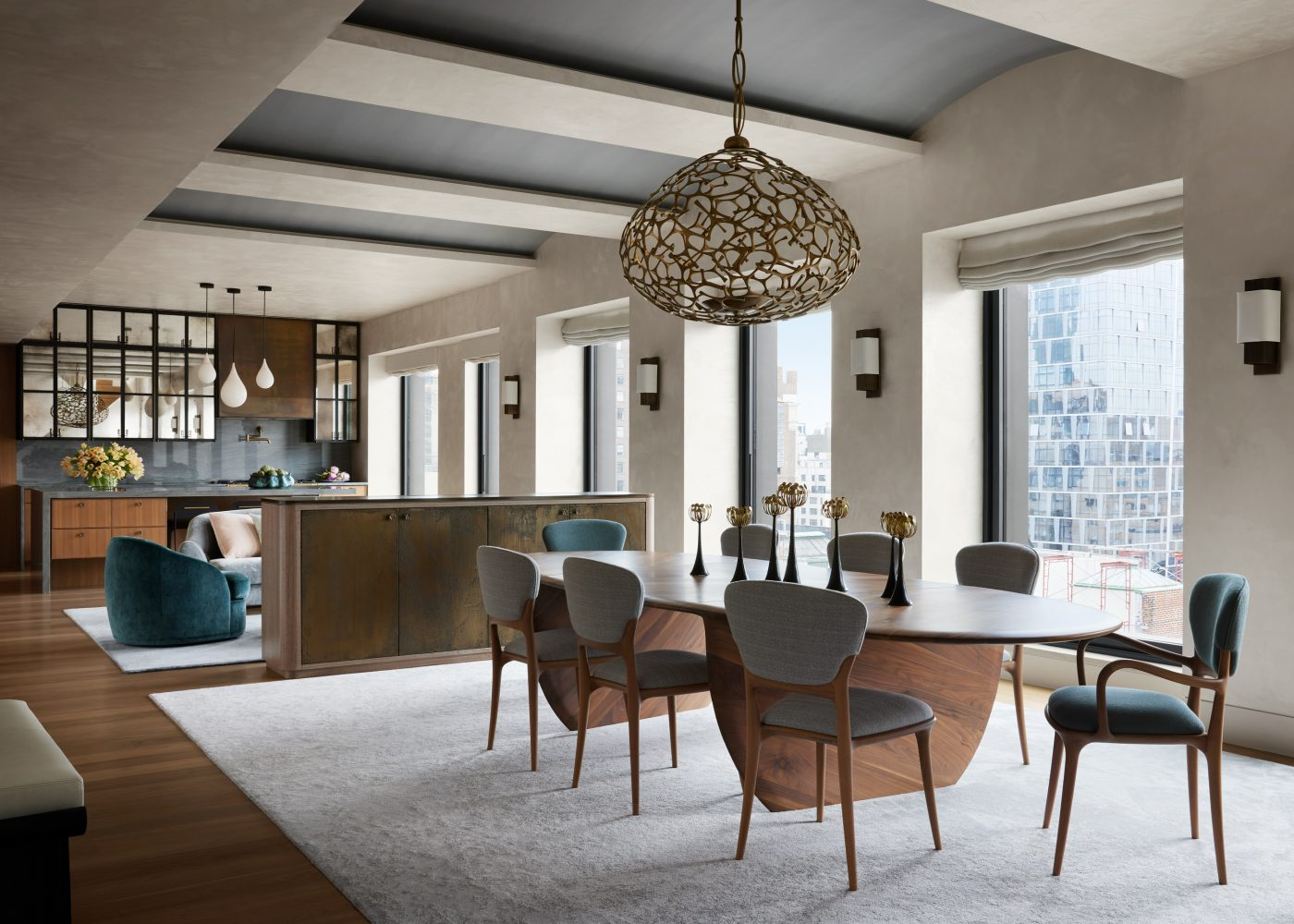 Dining room in the Manhattan triplex designed by DHD