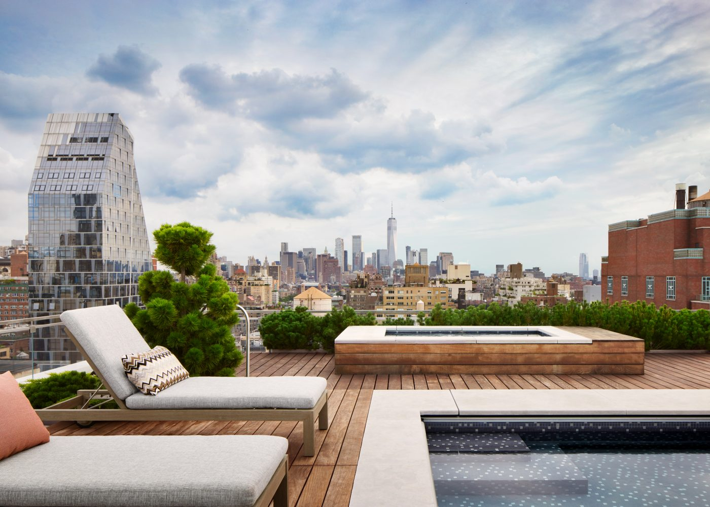 Roof terrace designed by DHD