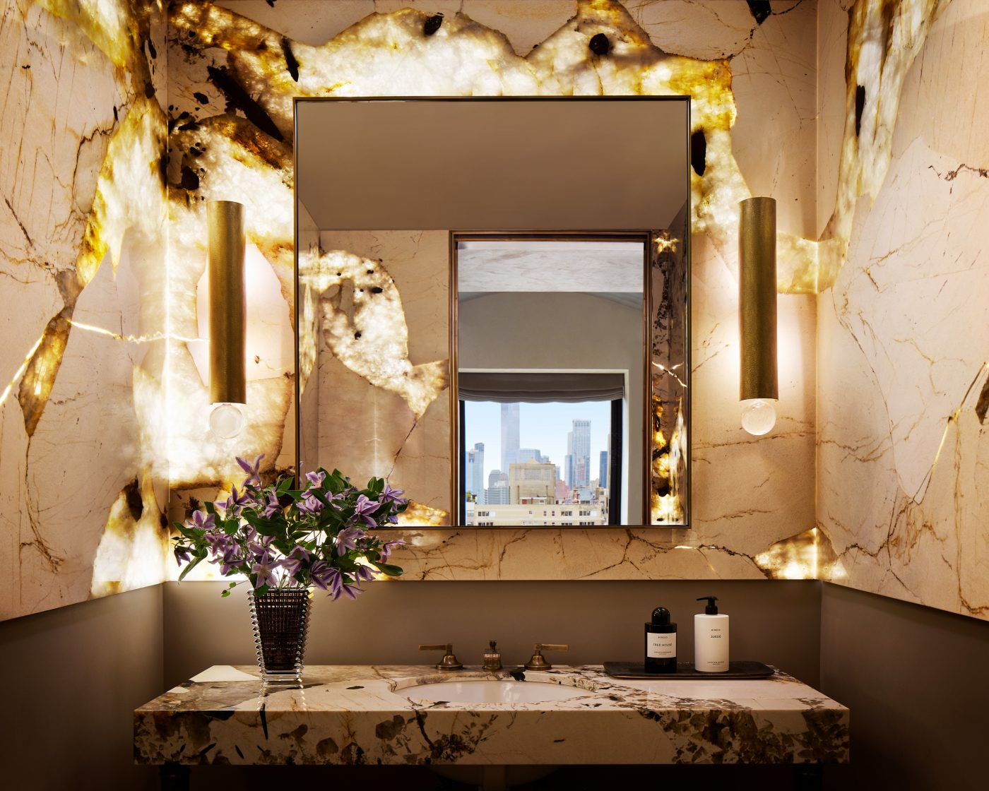Powder room designed by DHD