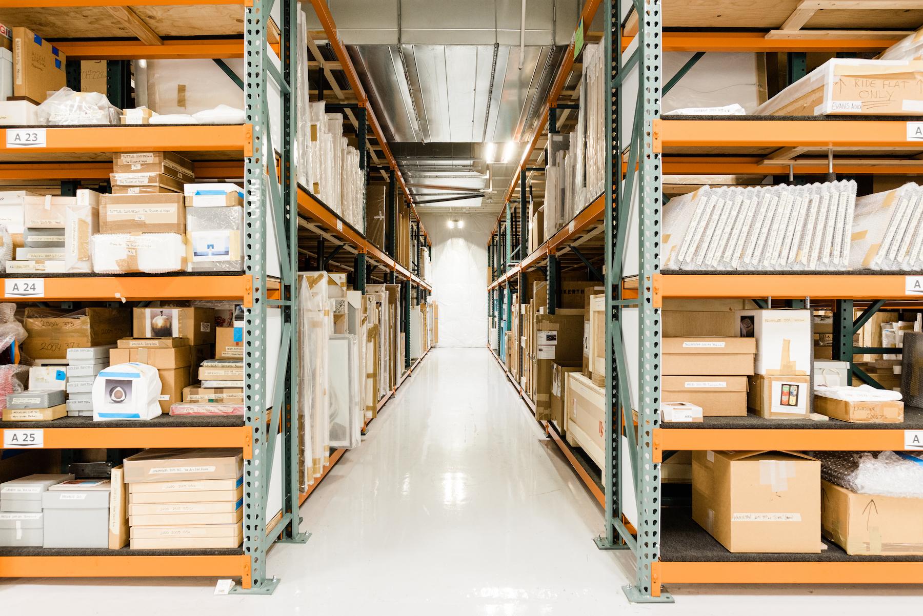Jordan Schnitzer's art warehouse